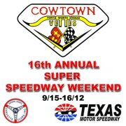 Cowtown vettes 16th annual super speedway weekend 9 14 for Texas motor speedway schedule this weekend